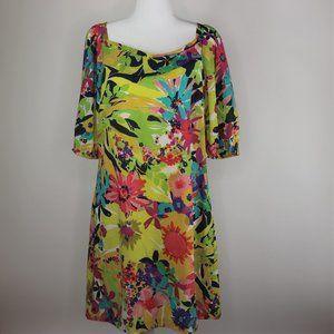 Trina Turk: Multicolor Floral Sheath Dress
